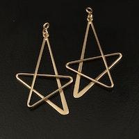 14K Star Earring Enhancers