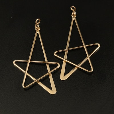 14K Star Earring Enhancers