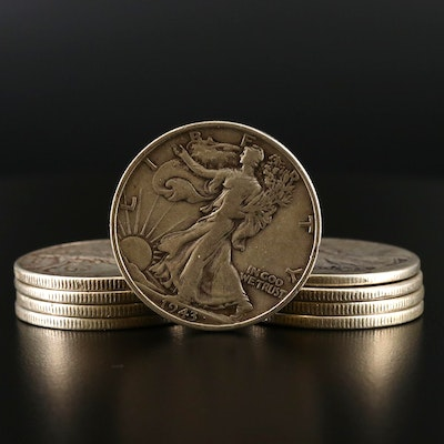 Walking Liberty Silver Half Dollars, 1935–1945