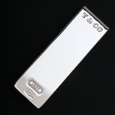 Tiffany & Co. Sterling Silver Money Clip with Branded Pouch