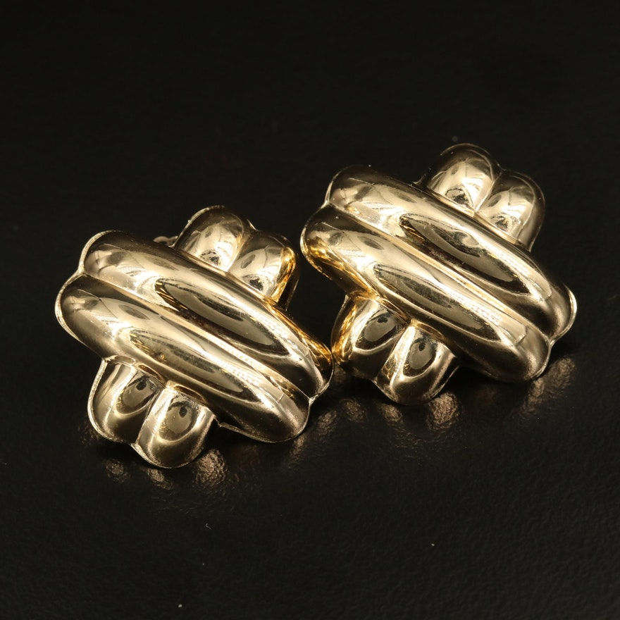 14K Gold Knot Earrings