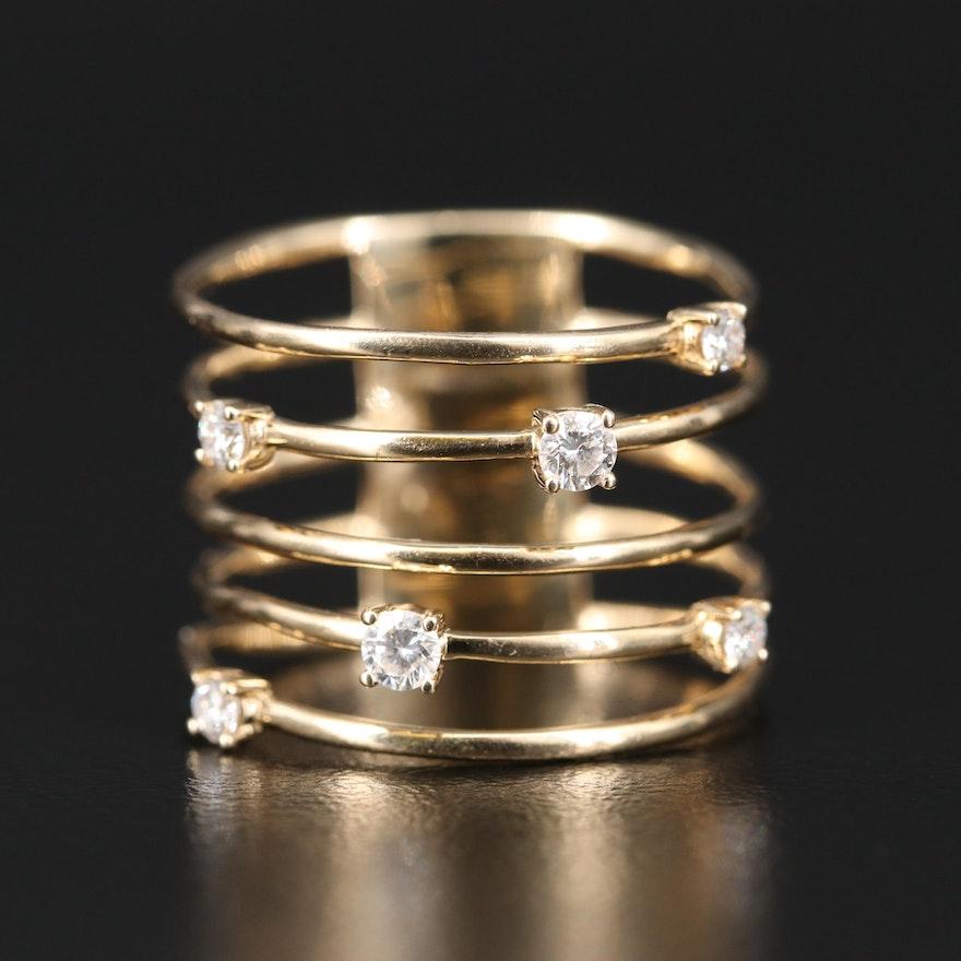 Lana Jewelry 14K Five Row Diamond Ring