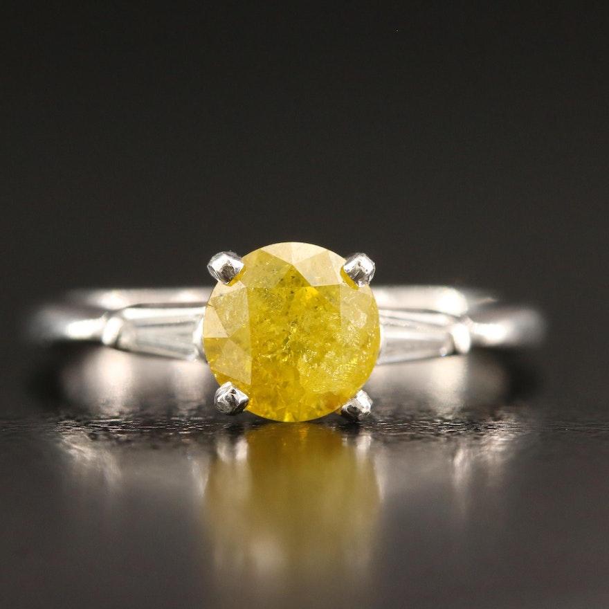 14K 1.14 CTW Diamond Catherdral Ring