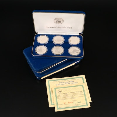 Three 6-Coin Harry Potter Commemorative Crown Coin Sets