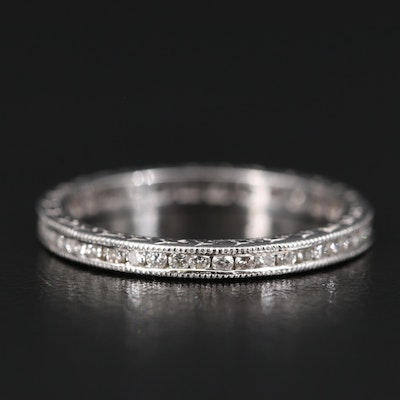 18K Diamond Channel Set Eternity Band
