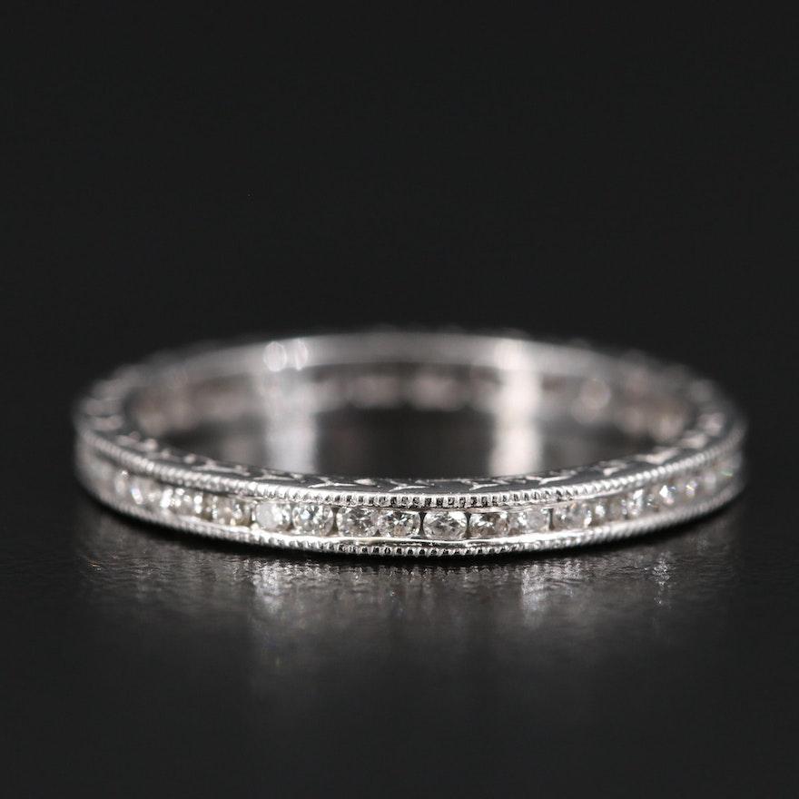 18K Diamond Channel Set Eternity Band