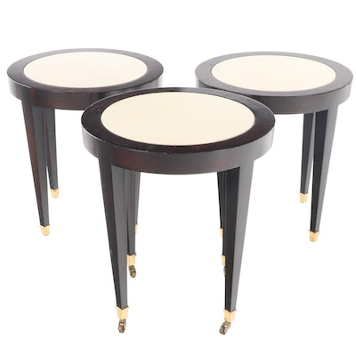 Three Donghia Two-Tone Gilt-Footed Side Tables