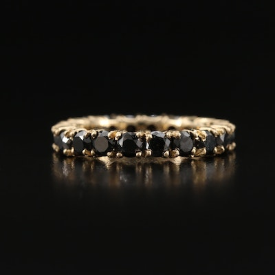 14K 2.50 CTW Black Diamond Eternity Band