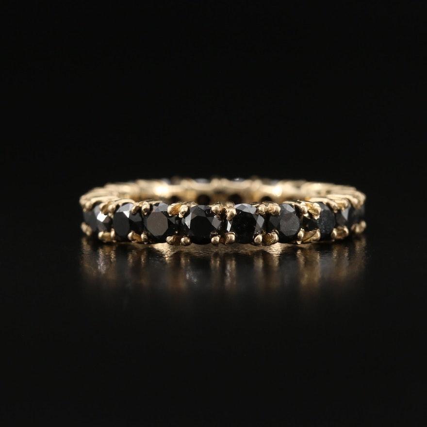 14K 2.50 CTW Black Diamond Eternity Band