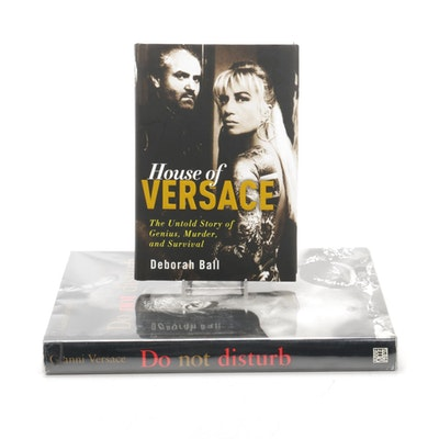 "Gianni Versace ""Do not disturb,"" 1996, and Deborah Ball ""House of Versace,"" 2010"