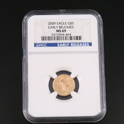 NGC Graded MS69 2009 $5 American Eagle Gold Bullion Coin