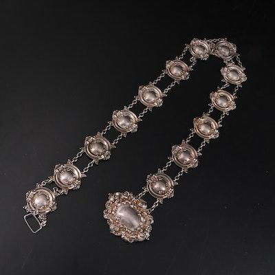 Art Nouveau Sterling Silver Chain Link Belt