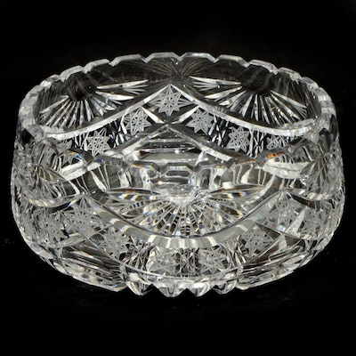 American Brilliant Cut Glass Bowl, Early 20th Century