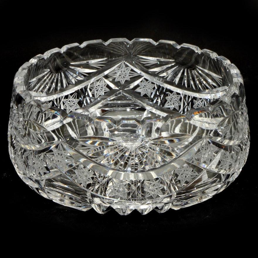 American Brilliant Cut Glass Bowl, Early 20th Century