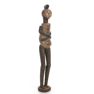 Mbete Style Hand-Carved Wood Figure, Gabon