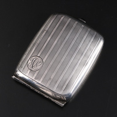 Havone Sterling Silver Cigarette Case, Early 20th Century
