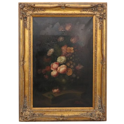 Terence Alexander Floral Still Life Oil Painting, Mid to Late 20th Century