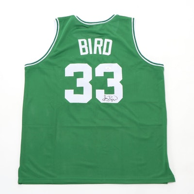 Larry Bird Signed Boston Celtics Replica Jersey with COA