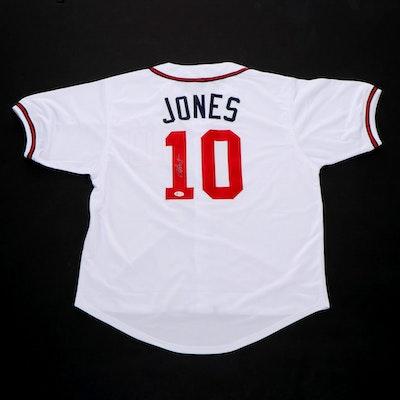 Chipper Jones Signed Atlanta Braves Replica Jersey, COA