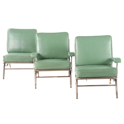 Mid Century Modern Vinyl Upholstered Seating Group, Mid 20th Century