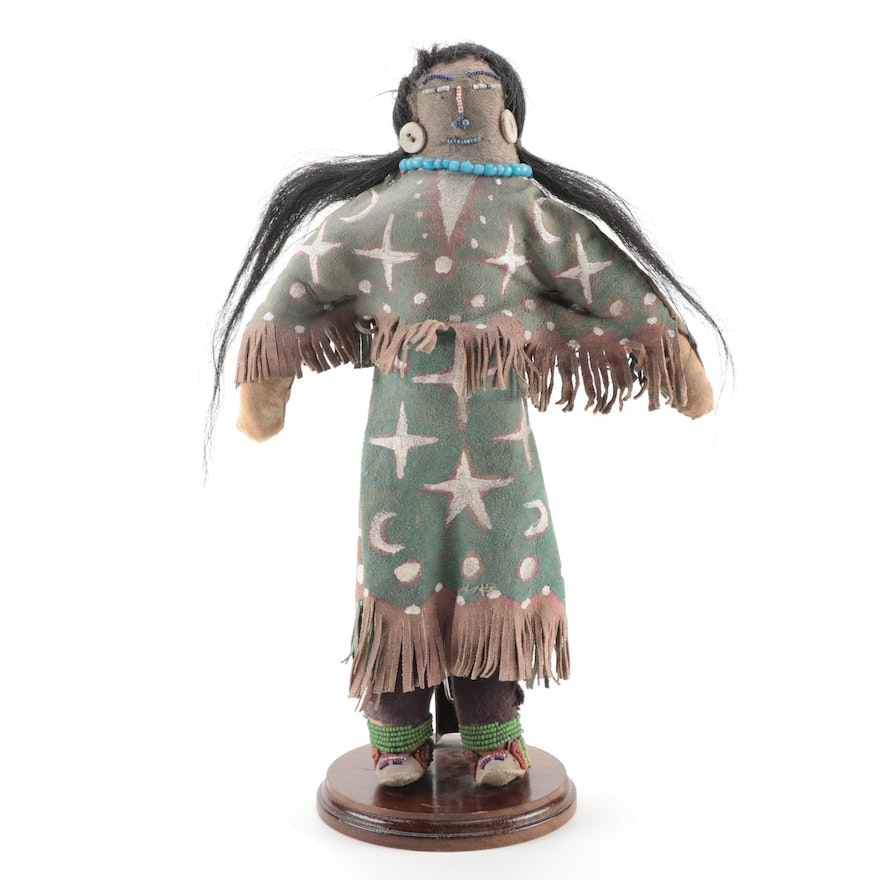 Lakota Style Painted Buckskin Ghost Dance Type Doll