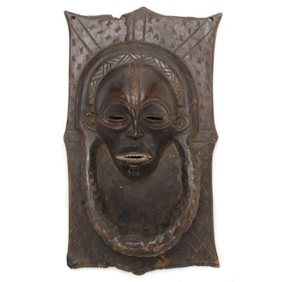 Chokwe Style Carved Figural Panel, Central Africa