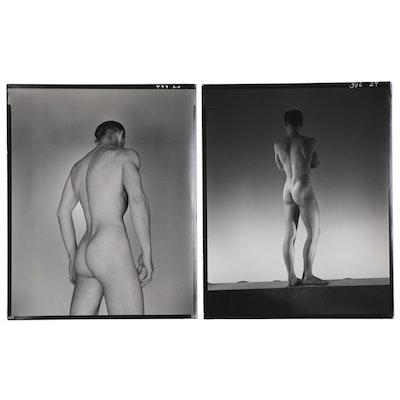George Platt Lynes Silver Gelatin Photographs of Male Nudes, 1952 - 1954