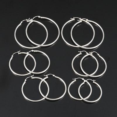 Sterling Silver Hoop Earrings Assortment