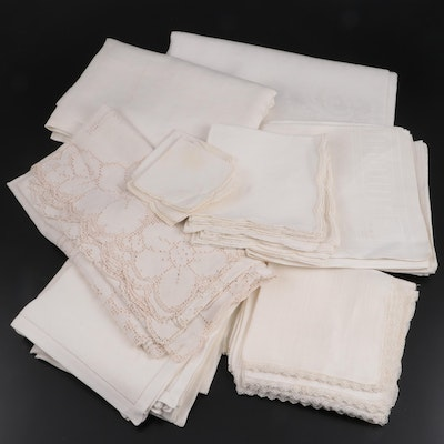Cutwork, Hemstitch, and Drawn-Thread Lace Table Linens