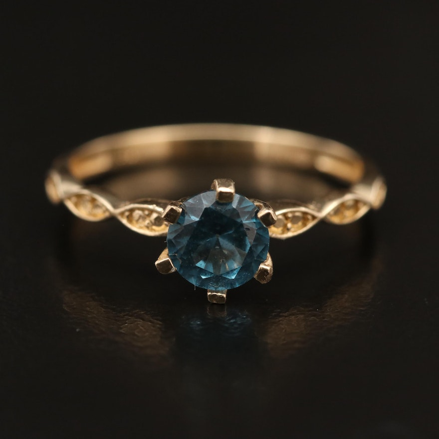 14K Spinel Solitaire Ring