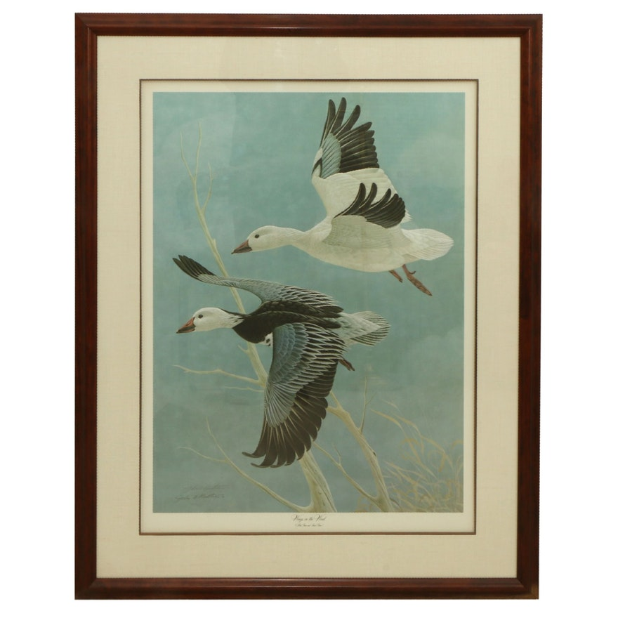 """John A. Ruthven Offset Lithograph """"Wings in the Wind,"""" Late 20th Century"""