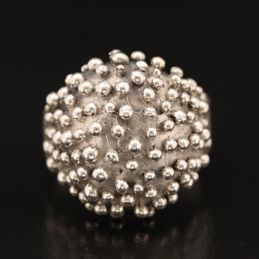 Mexican Sterling Granulated Dome Ring