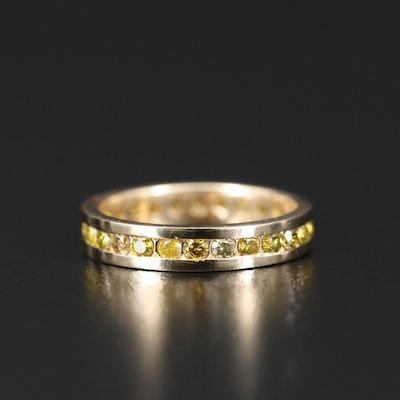 14K Channel Set Diamond Ring