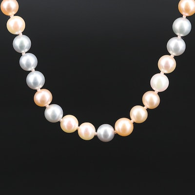 Robin Rotenier Pastel Pearl Necklace with 18K Clasp