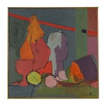 Helen Thomas Oil Painting of Abstract Still Life
