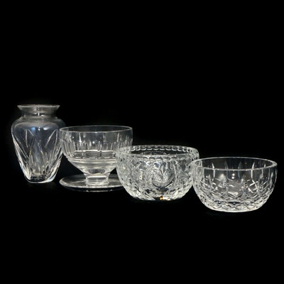 "2001 ""Hope for Abundance"" and Other Waterford Crystal Bowls and Vase"