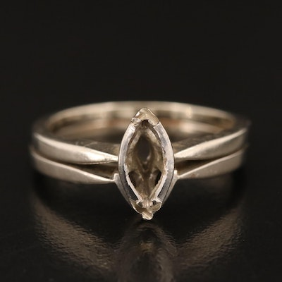 14K Open-Mount Ring