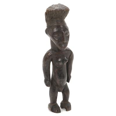 Mangbetu Style Wooden Figure, Central Sudan