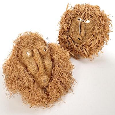 Iroquois Ceremonial Corn Husk Masks