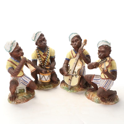 Italian Ceramic Monkey Band, Mid-20th Century
