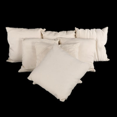 Contemporary Zippered Sofa Cushions and Throw Pillows