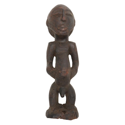 "Hemba ""Singiti"" Hand-Carved Wood Ancestor Figure, Central Africa"