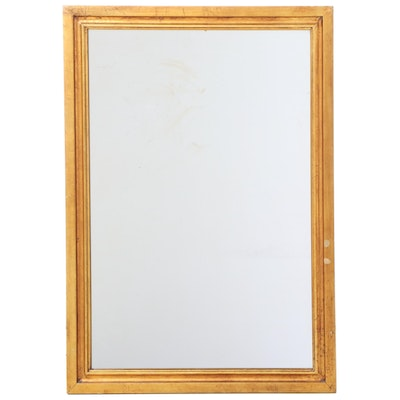 Giltwood Rectangular Wall Mirror, Mid to Late 20th Century