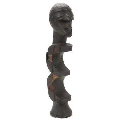 Eket Style Abstract Wooden Figure, Nigeria