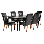 Arhaus Wooden Dining Table with Six Chairs
