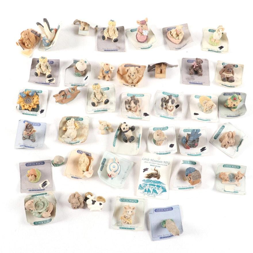 United Design Itty Bitty World Miniature Bunnies, Children, and More