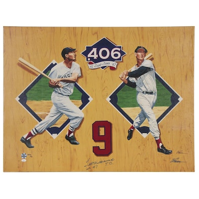 Ted Williams Signed Lithograph, Artist Proof 19/42, with COA