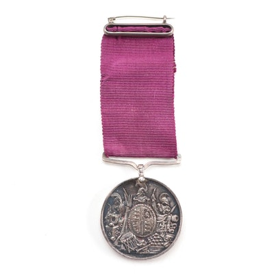 British Army Long Service and Good Conduct Silver Medal, Dated 1845
