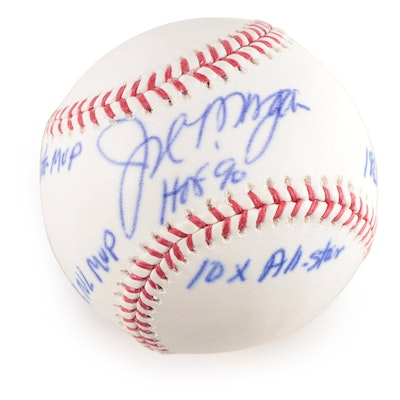 Joe Morgan Signed Major League Baseball, with Stats and  COA