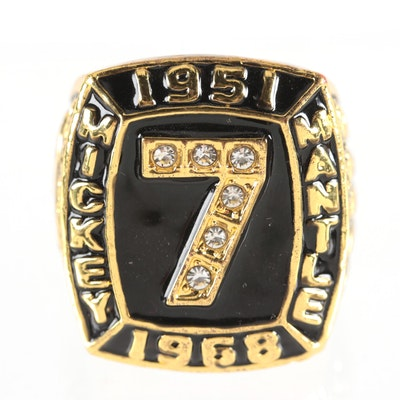 "Replica Mickey Mantle New York Yankees Souvenir ""536 Home Runs"" Retirement Ring"